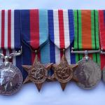 The medals of Marine Thomas Vardy MM  46RM Commando.