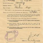 Army Reserve transfer certificate for Cpl. W. Spedding