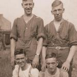 William Spedding (rear left) and friends