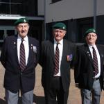 Douglas Davidson, Lt Col Graham Dunlop OBE, and Jackie Moyers