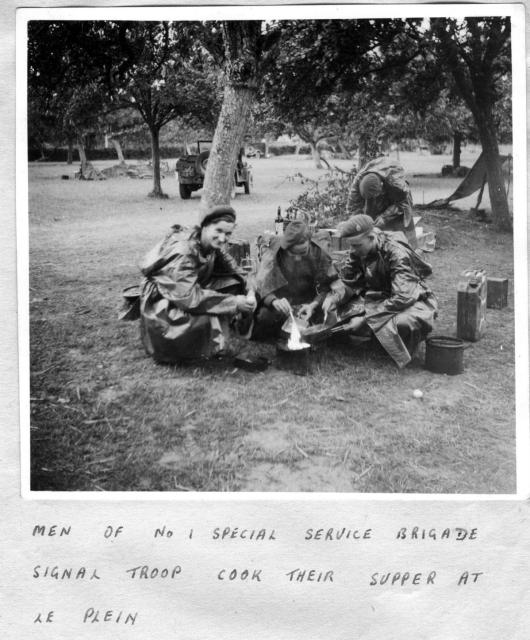 Some of No.1 Special Service Bde. Signal troop at Le Plein