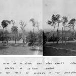 The view of Le Plein and Orne Valley from the belfry of Le Plein Church 1944 (annotated and extended)