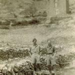 Glyn 'Fish' Nicholas  No. 2 Special Service  Brigade HQ (on the right) and unknown