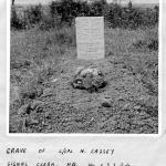 Original grave at Le Plein of Lance Corporal Norman Walter Cassey