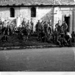 Some of No.1 Special Service Bde HQ at rest at St Maclou