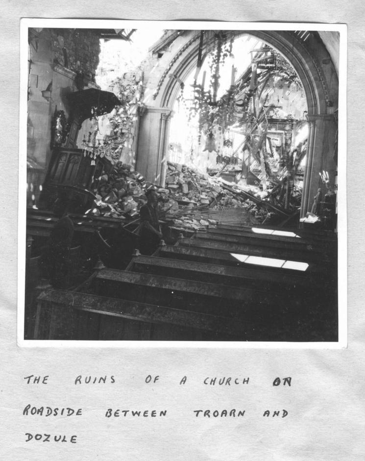 The ruins of a church between Troarn and Dozule 1944