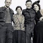 Ted Brown, Margaret Hyslop, Cpl Albert Reuben 'Don' Donohue, Nancy Hyslop.