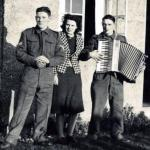 Cpl Albert Reuben 'Don' Donohue, Nancy Hyslop & Wally Reynolds, Lamlash 1940