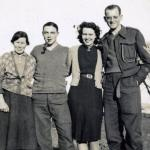Margaret Hyslop, Wally Reynolds, Nancy Hyslop & Ted Brown, Lamlash 1940