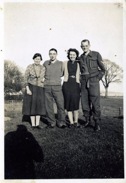 Margaret, Wally, Nancy & Ted, Lamlash 1940