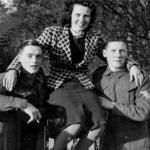 Wally Reynolds, Nancy Hyslop &   Cpl Albert Reuben 'Don' Donohue, Lamlash 1940