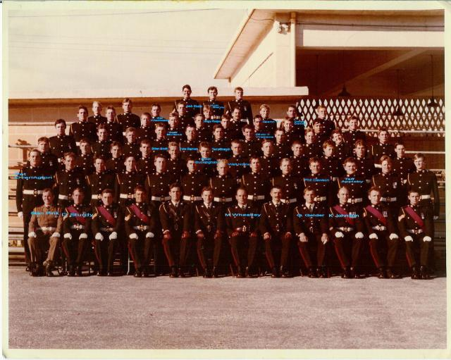 'F' Coy, 41 Commando RM in Malta, March 1977 (with names)