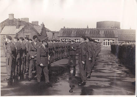 No.4 Commando post Dieppe parade at Barassie Street School, Troon (2)