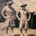 Joe Redman (left) and unknown at Cocanada India.