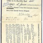 Life Membership of the Old Comrades Association for Lewis Jones No.4 Cdo