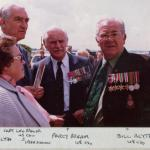 Len Bridger , Percy Bream MBE BEM and Bill Blythe