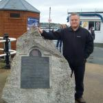 Al Carruthers (29 Cdo RA) by the Op Chariot Memorial in Falmouth