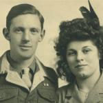 James Corrigan and his wife on their Wedding Day 1945