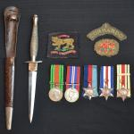 Commando knife and Memorabila of James Corrigan No. 1 Cdo