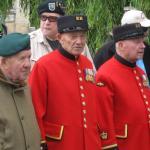 Bert Beddows, Fred Walker, and Roy Cadman,  Amfreville 4th June 2012