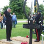 The Wreath Laying Ceremony with Brig. Thomas