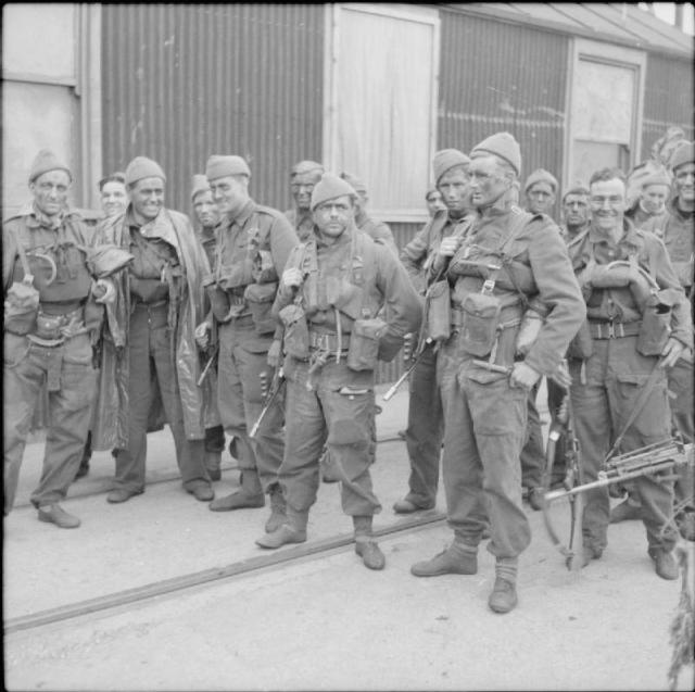 Men of No. 4 Commando after returning from a raid on the French coast near Boulogne, 22 April 1942.