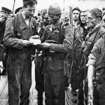 Lord Lovat, Captains Webb and Boucher-Myers, Len Ruskin, TSM Chatterway, Sgt Ham