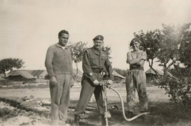 Percy Bream and 2 others in Polymedia, Cyprus 1955