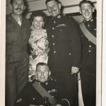 Percy Bream and his wife Beryl, CSM John Brown, and others