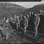 Sgt. Major Thomas Sawkins training US Rangers 7th Feb '43