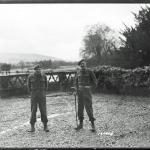 Major Peter Cockraft,  2 i/c CBTC, and Captain Viscount De Jonghe, Demolition Officer