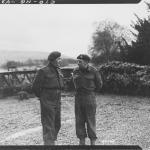 Lt. Col. C.E. Vaughan, Commandant, confers with his 2 i/c, Major Cockcraft