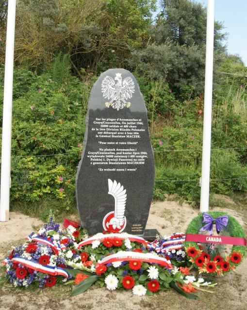 New monument for1st Polish Armoured Div. 28/7/2012