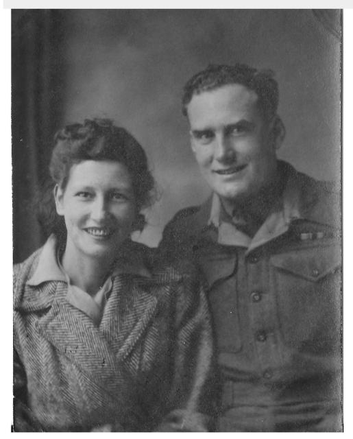Robert Donnison (5 Commando) & wife Alice - 8 Sep 1945