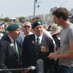 Roy Cadman, Fred Walker, and Dan Snow - Dieppe 2012