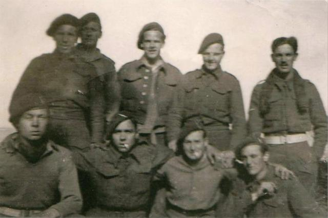 Joe Wright, Doug Webster, Jack Merry,  Cpl Walker, Ron Baldock, Peter Boon, Cliff Knox, and Michael Royal