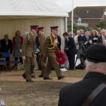 General Sir David Richards approaches the Memorial