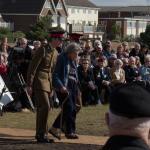 Countess Mountbatten escorted to the Memorial