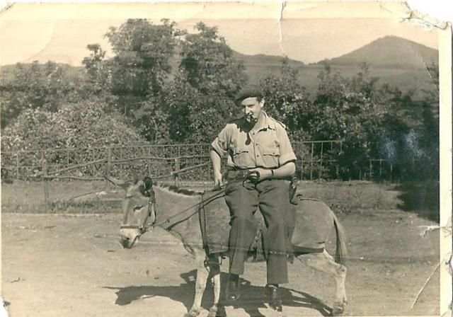 Terrence Kealy on a Donkey