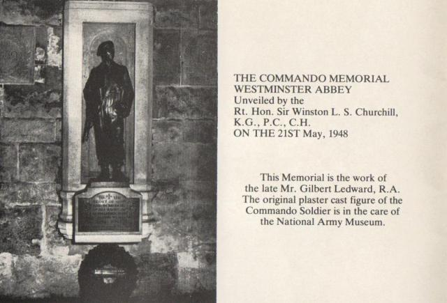 Commando Memorial Westminster Abbey