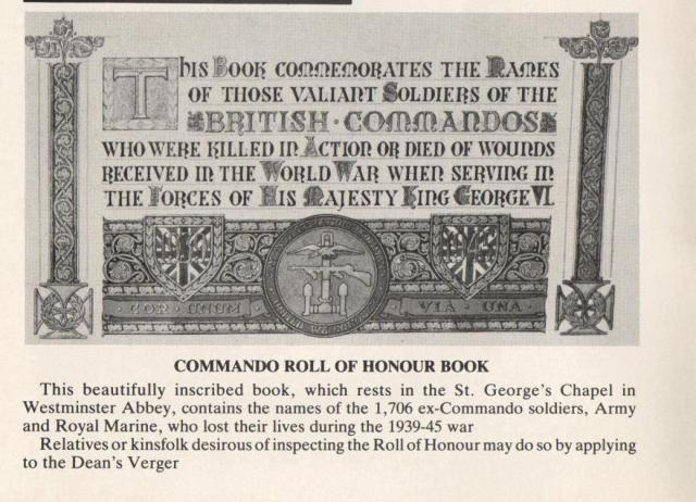 Commando Roll of Honour Book