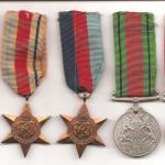 Medals of Pte. Tom Hall  No.1 Commando