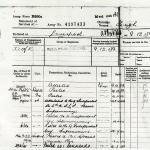 Hugh Maines-B200b Army Service Record Form.