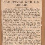 Newspaper report on Pte. Tom Hall, No.1 Cdo.