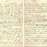 A letter from Wilfred Hall to his brother Thomas who was in No.1 Cdo
