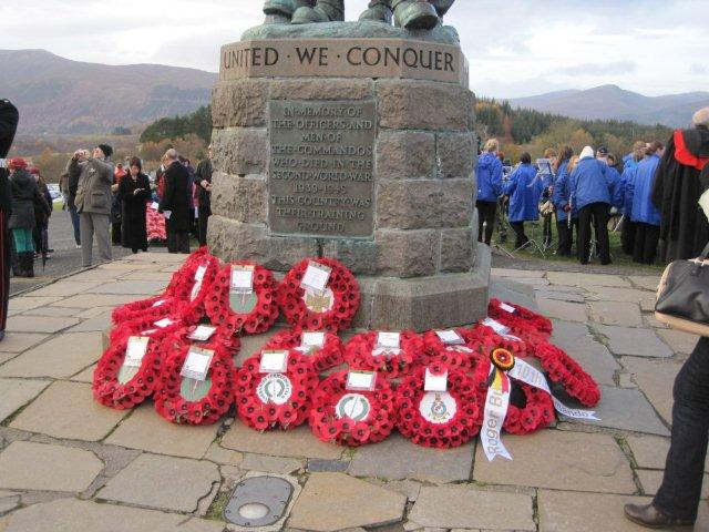 Wreaths at Commando Memorial