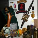 Commando memorabilia belonging to Sgt Martien van Barneveld