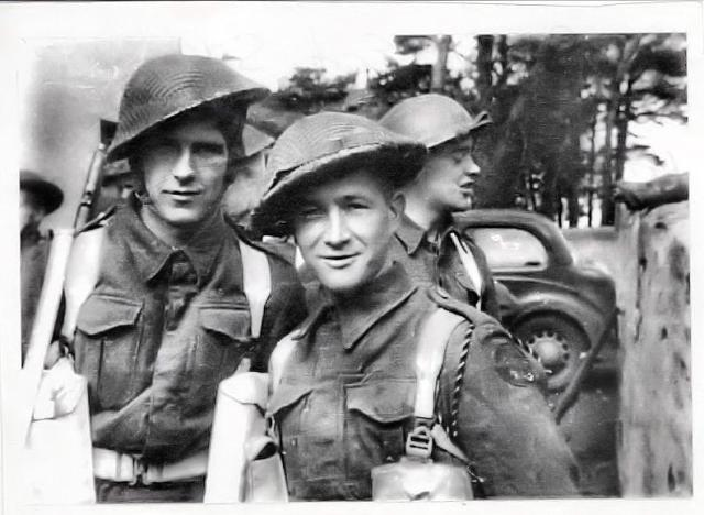 Pvt's Edwards , Docker and Mason. Spring of 1941 in Ayr