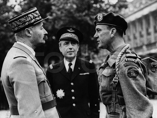 General Giraud, Admiral Muselier & Captaine de Corvette (Major) Phillipe Keiffer