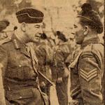 Lt. Gen. Sir Frank Noel Mason-Macfarlane inspects No.9 Commando